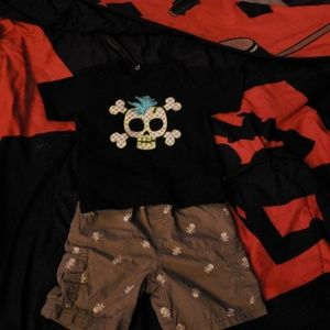 Boys Skull Outfit 2T
